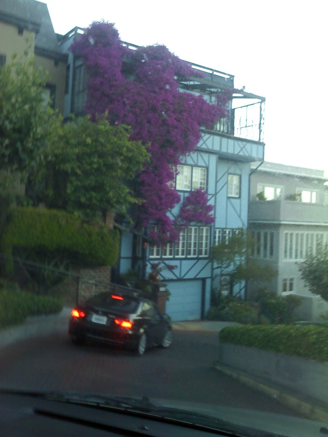 Driving down Lombard